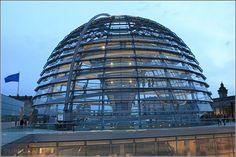 On top of the German Parliament - Deutscher Bundestag - Reichstagsgebäude am Platz der Republik - Berlin Germany/Deutschland