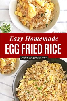 Fried Rice Recipe Easy With Egg, Simple Fried Rice, Simple Rice Recipes, Easy Rice Noodle Recipes, Egg Rice Recipe, Fried Rice Recipe Chinese, Rice Recipes Vegan, Making Fried Rice, Lunch Recipes