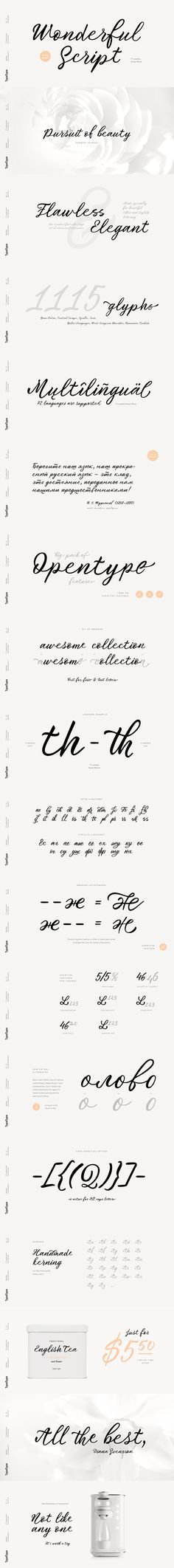 A Seamless, Lovely Calligraphic Font Without any false modesty, we can say that TT Lovelies Script is one of the most complicated projects we have ever carried out – there are 1115 glyphs, more than 2000 contextual alternates, 10000 kerned pairs and a large number of OpenType features, including ligatures and Old Style numbers. The ... read more Graphic Design Inspiration, Design Ideas, Hand Lettering Fonts, Glyphs, Typography Design, Silhouette Cameo, Script, Numbers, Pairs