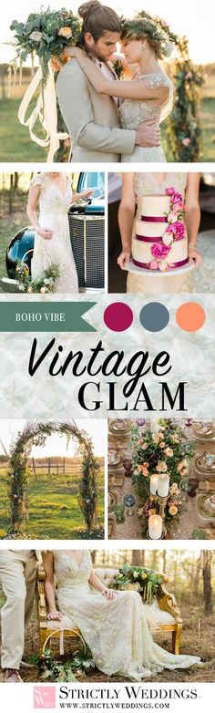 Mix fine china, fanciful floral displays, and woodsy backdrop, and you have yourself the ideal vintage wedding inspiration with a bohemian twist!