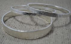 Sterling Silver Textured Bangle £50.00