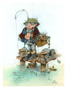 Bait & Wait Giclee Print by Gary Patterson at AllPosters.com
