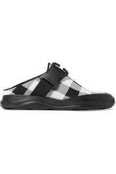 Christopher Kane - Buckled Gingham Stretch-knit Slip-on Sneakers - Black - IT40