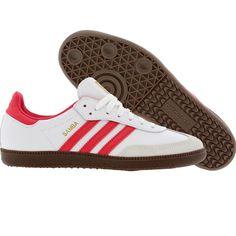Adidas Womens Samba (white / fresh pink / gold) G22685 - $59.99 Adidas Samba, Official Shoes, Shoe Box, Workout Gear, Latest Fashion For Women, Adidas Shoes, Adidas Women, Trainers, Running Shoes