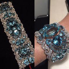 40s/50s Aquamarine bracelet
