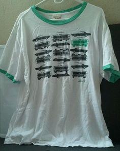 HTF #VintageLevis JeansTeal Green White Black Classic Car Men's XL T-shirt Rare #Levis #GraphicTee