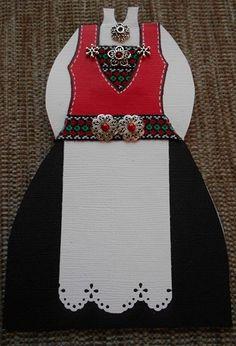bunadskort Sasha Doll, Doll Outfits, Vintage Prints, Norway, Christmas Stockings, Doll Clothes, Creativity, Scrapbook, Dolls