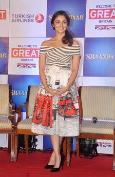 Alia Bhatt promoting #Shaandaar at the 'Tourism in Britain' promo event.