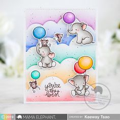 Hello and welcome to the Mama Elephant January 2019 Stampede! Today I'm sharing with you a card I created highlighting … Kids Cards, Baby Cards, Fruity Alcohol Drinks, Alcoholic Drinks, Healthy Toddler Meals, Toddler Food, Juice Recipes For Kids, Mama Elephant Stamps, Elephant Design