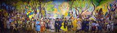 Smarthistory article on Diego Rivera, Dream of a Sunday Afternoon in Alameda Central Park (Sueño de una tarde dominical en la Alameda Central), 1947, 4.8 x 15 m (Mu...