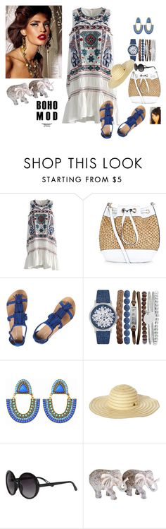 """""""Boho Mod"""" by gaya-vas ❤ liked on Polyvore featuring Chicwish, New Look, Dorothy Perkins, Jessica Carlyle, Rip Curl and Trio Eyewear"""