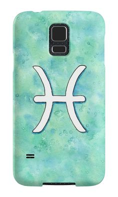"""Zodiac sign : Pisces"" Samsung Galaxy Cases & Skins by Savousepate on Redbubble #galaxycase #phonecase #galaxyskin #phoneskin #astrology #astrologicalsign #zodiacsign #aquarius #blue #turquoise #aqua #mint #white #watercolorpainting"