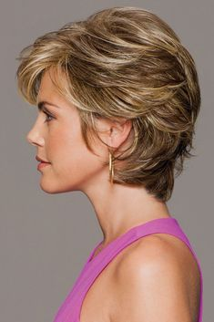 Gabor Wigs - Gratitude An all-over, loosely layered, cropped shag wig with added volume in the crown Short Shag Hairstyles, Short Layered Haircuts, Short Hairstyles For Women, Short Bobs, Wedding Hairstyles, Hairstyles 2018, Pixie Haircuts, Short Hair With Layers, Short Hair Cuts For Women