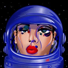 "Magdalena Ròżańska on Instagram: ""🌔💫Astronaut💫🌔 ✨✨#artmash ✨✨ 🌕🌖🌓🌗🌘🌑🌒 . . . . . . . #artmash #procreate @procreate #illustration #illustrator #space #kosmos #makeup #planet…"" Illustration Artists, Illustrations, Illustrators On Instagram, Drawing S, Princess Zelda, Astronaut, Fictional Characters, Space, Makeup"
