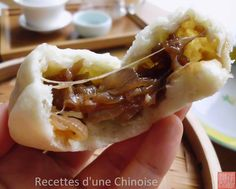 Recettes d'une Chinoise: Les bao (baozi) aux oignons confits et vieux comté