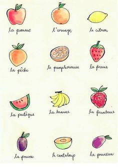 Les fruits français...