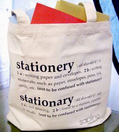One of my biggest pet peeves is the misuse of the words stationery and stationary.