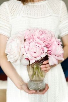 What does your bouquet say about you? | Peonies say your relationship is a sweet one and you and your betrothed are each other's best friend.