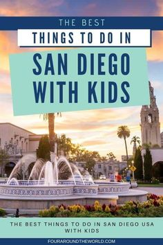 Discover the best family-friendly attractions in San Diego, California, with the best things to do in San Diego with kids. These fun activities with kids in San Diego are perfect for the whole family, from babies and toddlers right up to bringing the grandparents too. Beautiful scenery and beaches, San Diego day trips and exciting places to visit in the city with this complete travel guide #sandiegowithkids #thingstodoinsandiego San Diego Usa, Visit San Diego, San Diego Beach, San Diego Activities, Fun Activities, Legoland California, California Travel, San Diego Day Trip, Family Vacation Destinations