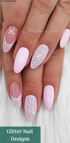 Tinged Short Almond Nails and Stilettos Nails - Fashion is an attitude. - 30 Tinged Short Almond Nails and Stilettos Nails – Fashion is an attitude. Stiletto Nails, Glitter Nails, Gel Nails, Coffin Nails, Acrylic Nails, Spring Nails, Summer Nails, Cute Nails, Pretty Nails