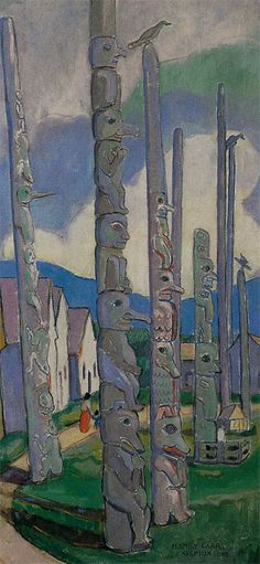 I love century Canadian artist Emily Carr! Tom Thomson, Canadian Painters, Canadian Artists, Emily Carr Paintings, Street Art, Group Of Seven, Fine Art Auctions, Impressionist Paintings, Native Art