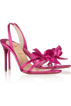 Christian Louboutin bow-embellished satin sandals  http://rstyle.me/n/baxesnyg6
