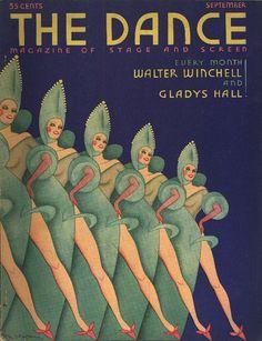 Rita Leach, cover illustration of The Dance magazine, USA [deco] Art Deco Posters, Vintage Posters, Vintage Art, Vintage Graphic, Dance Magazine, Magazine Art, Magazine Covers, Harlem Renaissance, Art Nouveau