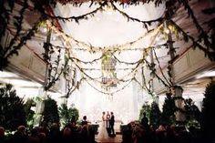 All the wonders of the outdoors inside! Indoor Wedding, Diy Wedding, Wedding Ceremony, Dream Wedding, Wedding Ideas, Indoor Ceremony, Wedding Shot, Wedding Pins, Wedding Bells