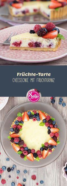 Feiner Mürbteig mit Mascarpone-Zitronencreme und Fruchtkranz.