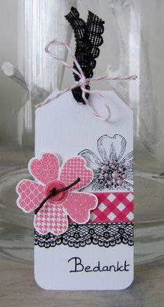 Stampin' Up! Flower Shop Tag by Marijke
