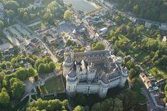 chateau de pierrefonds | Château de Pierrefonds, vue par avion