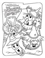 christians bestcolor sheets to go with the movie the wonderful wizard of veggietalescolor