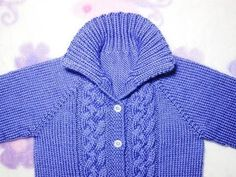 Free Knitting Pattern—Seamless Braided Cable Baby Sweater : This purple baby sweater pattern is a very simple design for knitters and can make babies comfortably warm in cold weather. Baby Boy Sweater, Toddler Sweater, Knit Baby Sweaters, Girls Sweaters, Baby Cardigan Knitting Pattern Free, Baby Sweater Patterns, Baby Knitting Patterns, Knitting Tutorials, Knitting For Kids