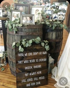 """But with Harry Potter quote, """"The ones who love us never really leave us, you can always find them in here. Cute Wedding Ideas, Wedding Goals, Perfect Wedding, Wedding Planning, Wedding Wishes, Wedding Signs, Our Wedding, Dream Wedding, Memorial At Wedding"""