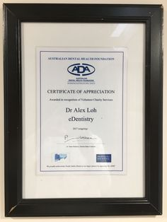 eDentistry has been recognised by the Australian Dental Association for their contribution to charity services. Yay!