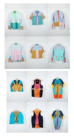 Color blocking ideas... adaptable to many clothing items.