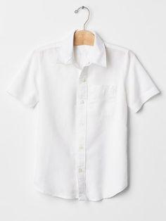 Linen short-sleeve shirt