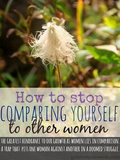 How to stop comparing yourself with others - Tammy Strait