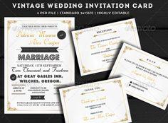 Vintage Wedding Invitation PSD Template | More Info: http://graphicriver.net/item/vintage-wedding-invitation/7644288?WT.ac=category_thumb&WT.z_author=kavutpal&ref=ksioks