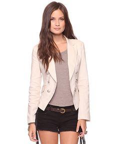 Notched Collar Jacket - StyleSays