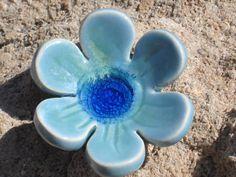 Flower Dish by ToshasPottery on Etsy, $8.50