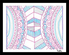 "Greeting Art Card w/envelope, ""Everyday Symmetrical Hipster,"" by Rielle 5 1/2"" x 4 1/4"" on Etsy, $4.99"