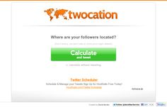 Find out where your followers are located - Twocation   Website 'http://www.twocation.com/' snapped on Snapito!