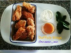 Buffalo Wings recipe by Naeema Mia posted on 21 Jan 2017 . Recipe has a rating of by 1 members and the recipe belongs in the Appetizer, Sides, Starters recipes category Wing Recipes, Real Food Recipes, Cooking Recipes, Corn Flake Crumbs, Creamed Cucumbers, Buffalo Chicken Recipes, Indian Curry, Buffalo Wings, Food Categories