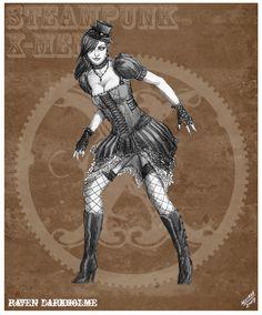 Mystique Steampunk Redesign by *sketcheronline on deviantART