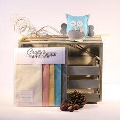 Mr Owl Felt Sewing Kit by CraftyAlchemy on Etsy