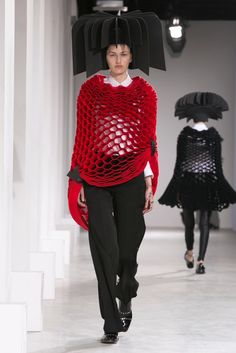 A look from the Junya Watanabe Fall 2015 RTW collection.