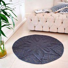 Knitted Rug | Вязаный коврик для дома