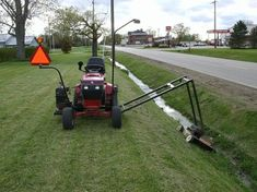 Here are a couple of photos of my ditch mower. The state thinks I need a canyon for a ditch, so after a year of weed eater tourture, I decided that there. Yard Tractors, Small Tractors, Tractor Mower, Tractor Seats, Riding Lawn Mower Attachments, Garden Tractor Attachments, Atv Attachments, Accessoires Quad, Garage Atelier
