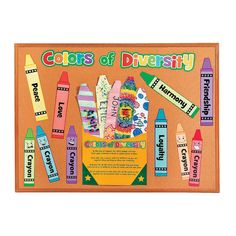 Crayons in a Box Bulletin Board Set- for diversity in the classroom